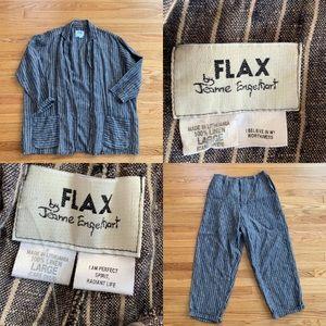 FLAX Jeanne Engelhart Vintage Linen 2 PC Set